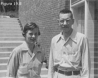 Marta Chase y Alfred Hershey
